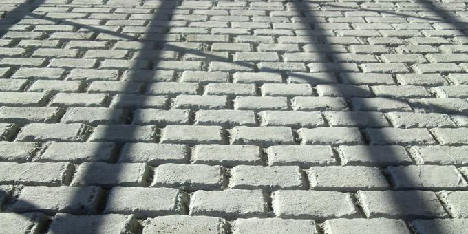コンクリートローラー仕上げの床面